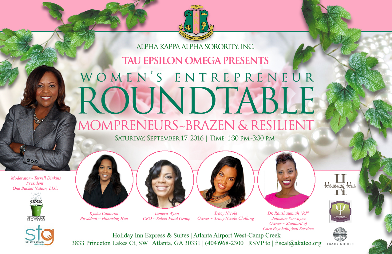 Join Terrell Dinkins at the Women's Entrepreneur Roundtable!